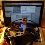 Low-Budget headtracker mounted on headphones